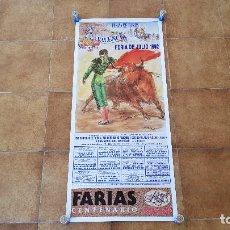 Carteles Toros: CARTEL PLAZA DE TOROS DE VALENCIA (1992) FERIA DE JULIO. Lote 195135842