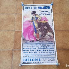 Carteles Toros: CARTEL PLAZA DE TOROS DE VALENCIA (1987). Lote 195147616