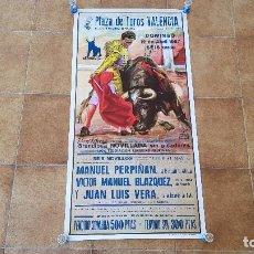 Carteles Toros: CARTEL PLAZA DE TOROS DE VALENCIA (1987). Lote 195147775