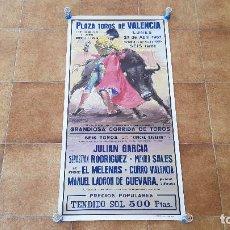 Carteles Toros: CARTEL PLAZA DE TOROS DE VALENCIA (1987). Lote 195147943