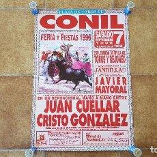 Carteles Toros: CARTEL PLAZA DE TOROS DE CONIL (1996) CADIZ. Lote 195148570