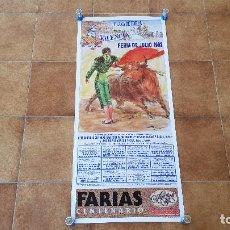 Carteles Toros: CARTEL PLAZA DE TOROS DE VALENCIA (1992) FERIA DE JULIO. Lote 195149020