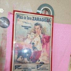 Carteles Toros: CARTEL DE TOROS DE ZARAGOZA. Lote 195177982