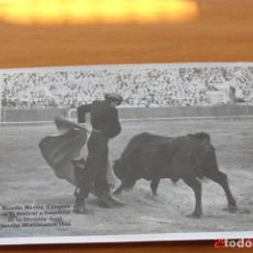 Carteles Toros: FOTOGRAFIA DE MANOLO MARTIN VAZQUEZ-BENEFICIO DIVISION AZUL- 20 DICIEMBRE 1942. Lote 195192867
