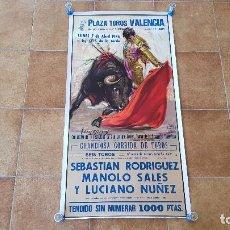 Carteles Toros: CARTEL PLAZA DE TOROS DE VALENCIA (1986). Lote 195269298