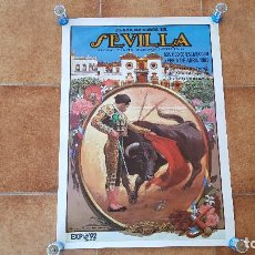 Carteles Toros: CARTEL PLAZA DE TOROS DE SEVILLA (1988). Lote 195269792