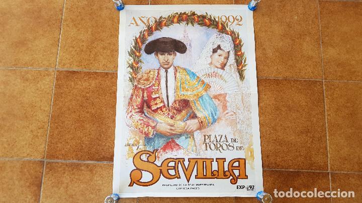 CARTEL PLAZA DE TOROS DE SEVILLA (1992) (Coleccionismo - Carteles Gran Formato - Carteles Toros)