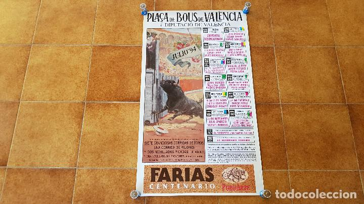 CARTEL PLAZA DE TOROS DE VALENCIA (1994) LITRI, JESULIN, EL CORDOBES... (Coleccionismo - Carteles Gran Formato - Carteles Toros)
