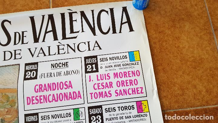 Carteles Toros: CARTEL PLAZA DE TOROS DE VALENCIA (1994) LITRI, JESULIN, EL CORDOBES... - Foto 2 - 195299873