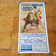 Carteles Toros: CARTEL PLAZA DE TOROS DE CASTELLON (1994) FINITO DE CORDOBA, LITRI Y ORTEGA CANO. Lote 195301710