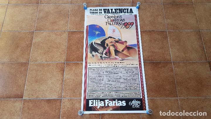 CARTEL PLAZA DE TOROS DE VALENCIA (1989) ESPARTACO, LITRI, ORTEGA CANO... (Coleccionismo - Carteles Gran Formato - Carteles Toros)