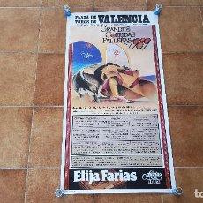 Carteles Toros: CARTEL PLAZA DE TOROS DE VALENCIA (1989) ESPARTACO, LITRI, ORTEGA CANO.... Lote 195301982