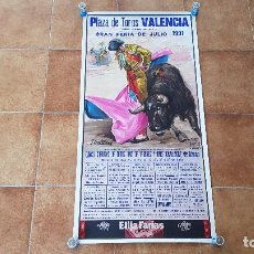 Carteles Toros: CARTEL PLAZA DE TOROS DE VALENCIA (1991) FINITO DE CORDOBA, LITRI.... Lote 195302262