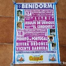 Carteles Toros: CARTEL PLAZA DE TOROS DE BENIDORM (1994) JESULIN, EL CORDOBES, LITRI.... Lote 195302831