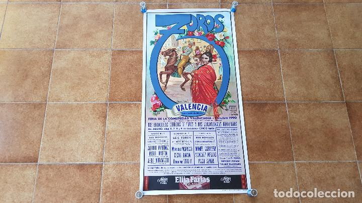 CARTEL PLAZA DE TOROS DE VALENCIA (1990) (Coleccionismo - Carteles Gran Formato - Carteles Toros)