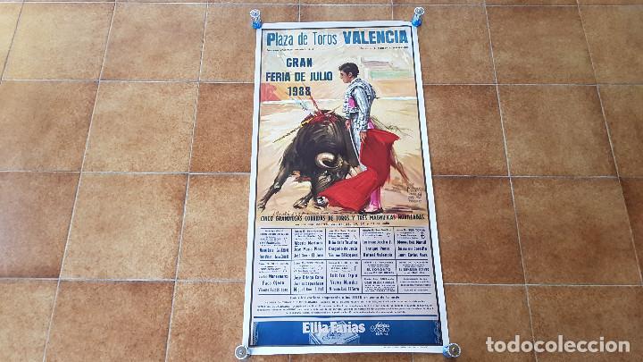 CARTEL PLAZA DE TOROS DE VALENCIA (1988) LITRI, EL SORO, ESPARTACO, ORTEGA CANO... (Coleccionismo - Carteles Gran Formato - Carteles Toros)