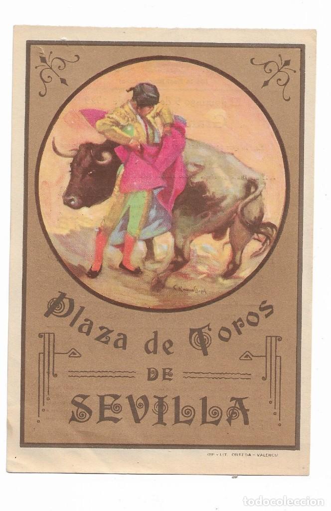 ENTRADA PLAZA DE TOROS DE SEVILLA 9 DE JUNIO DE 1929 PLAZA DE TOROS DE SEVILLA DE LA REAL MAESTRANZA (Coleccionismo - Carteles Gran Formato - Carteles Toros)