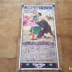 Carteles Toros: CARTEL PLAZA DE TOROS DE VALENCIA (1990) FALLAS - JOSELITO, LITRI, JESULIN.... Lote 195515110