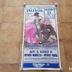 Carteles Toros: CARTEL PLAZA DE TOROS DE VALENCIA (1988). Lote 195515770