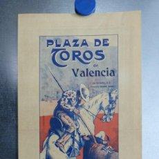 Carteles Toros: CARTEL TOROS - VALENCIA - ABRIL DE 1916 - VAQUERITO, ANDALUZ, ZARCO. Lote 196637207