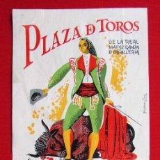 Carteles Toros: CARTEL DE LA PLAZA DE TOROS DE RONDA. AÑO: 1959. GRAN CORRIDA GOYESCA. ANTONIO ORDOÑEZ. Lote 196916722