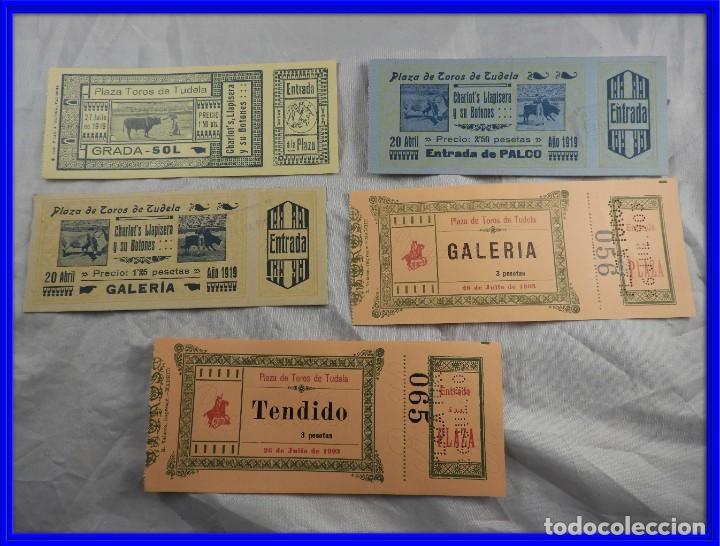 ENTRADAS DE TOROS TUDELA AÑOS 1903 Y 1919 SIN PICAR (Coleccionismo - Carteles Gran Formato - Carteles Toros)