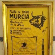 Carteles Toros: CARTEL DE SEDA CENTENARIO PLAZA DE TOROS DE MURCIA. Lote 198604122