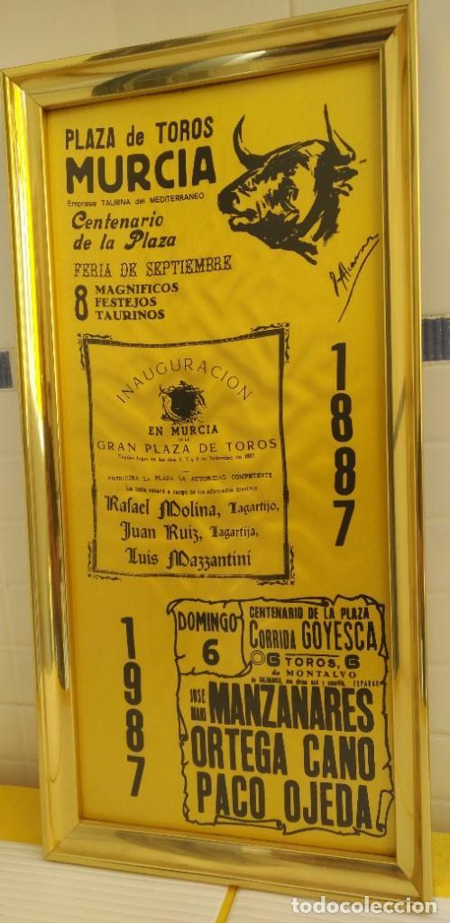 Carteles Toros: CARTEL DE SEDA CENTENARIO PLAZA DE TOROS DE MURCIA - Foto 2 - 198604122