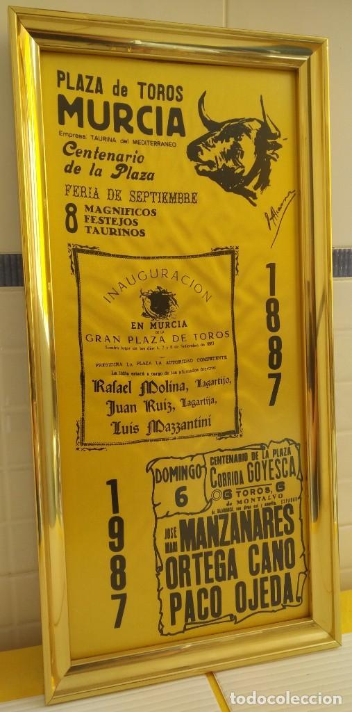Carteles Toros: CARTEL DE SEDA CENTENARIO PLAZA DE TOROS DE MURCIA - Foto 3 - 198604122
