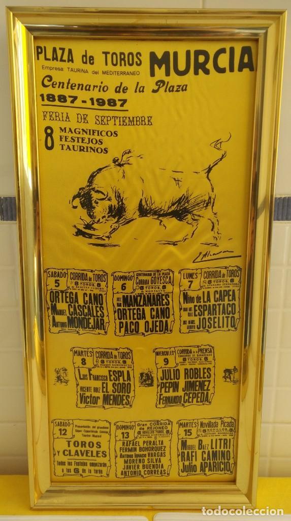 CARTEL DE SEDA CENTENARIO PLAZA DE TOROS DE MURCIA (Coleccionismo - Carteles Gran Formato - Carteles Toros)