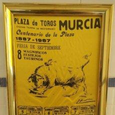 Carteles Toros: CARTEL DE SEDA CENTENARIO PLAZA DE TOROS DE MURCIA. Lote 198604777