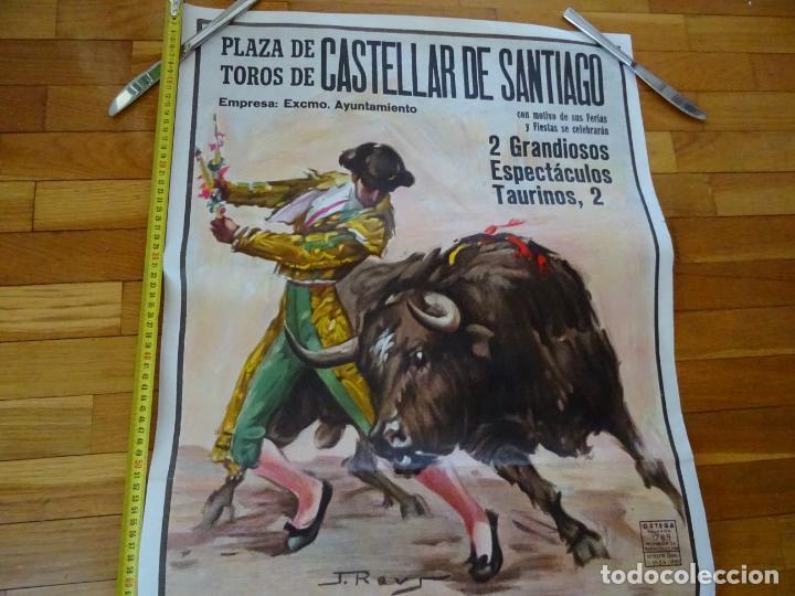 Carteles Toros: años 1970. cartel toros grande. Castellar de santiago. ciudad real - Foto 2 - 198748738