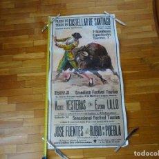 Carteles Toros: AÑOS 1970. CARTEL TOROS GRANDE. CASTELLAR DE SANTIAGO. CIUDAD REAL. Lote 198748738