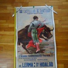 Carteles Toros: AÑOS 1970, CARTEL GRANDE TOROS, CASTELLAR DE SANTIAGO. CIUDAD REAL. Lote 198749110