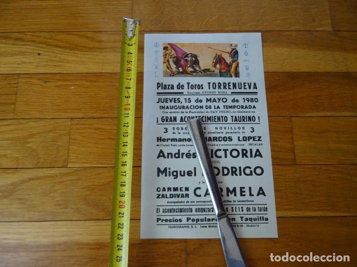 AÑO 1980. PLAZA TOROS TORRENUEVA, CIUDAD REAL (Coleccionismo - Carteles Gran Formato - Carteles Toros)