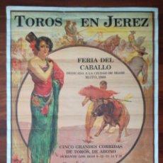 Carteles Toros: TOROS EN JEREZ FERIA DEL CABALLO DEDICADO A MIAMI. Lote 199171851