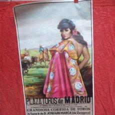 Carteles Toros: CARTEL PLAZA DE TOROS DE MADRID, 1983. DAMASO GONZALEZ, NIÑO DE LA CAPEA, JOSE A. CAMPUZANO. Lote 199981618