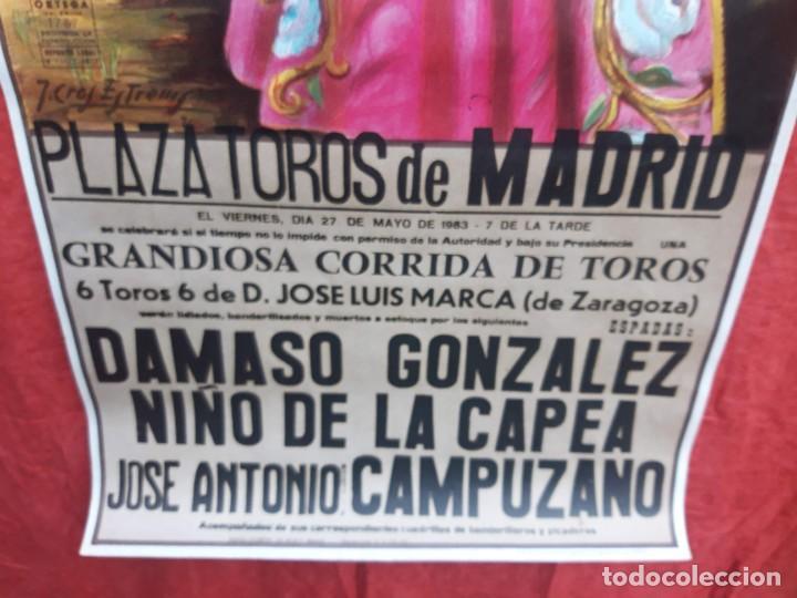 Carteles Toros: Cartel Plaza de toros de Madrid, 1983. Damaso Gonzalez, Niño de la capea, Jose A. Campuzano - Foto 5 - 199981618