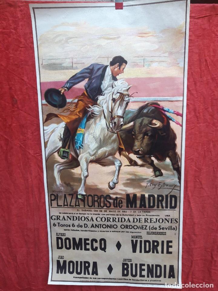 CARTEL PLAZA DE TOROS DE MADRID, 1983. (Coleccionismo - Carteles Gran Formato - Carteles Toros)