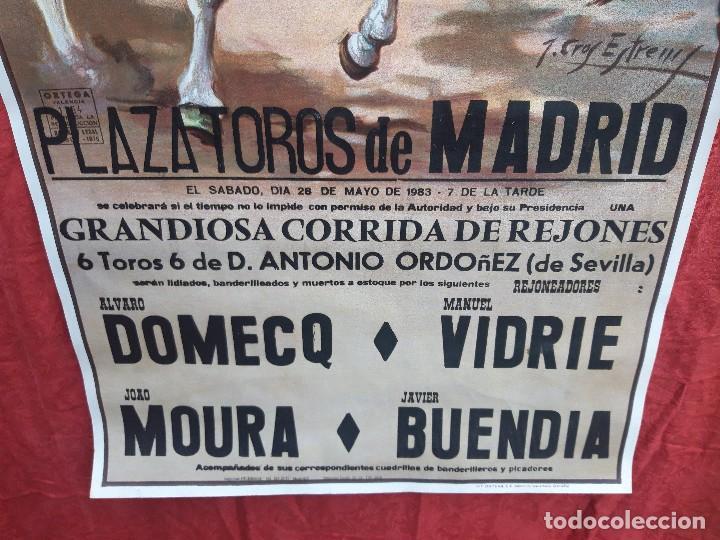 Carteles Toros: Cartel Plaza de toros de Madrid, 1983. - Foto 5 - 199981840