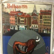 Carteles Toros: CARTEL DE TOROS BILBAO 1964. Lote 200194867