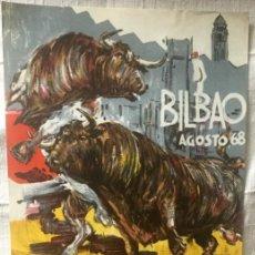 Carteles Toros: CARTEL DE TOROS BILBAO 1968. Lote 200195255