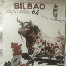 Carteles Toros: CARTEL DE TOROS BILBAO 1964. Lote 200195451