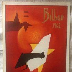 Carteles Toros: CARTEL DE TOROS BILBAO 1962. Lote 200195761