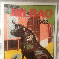 Carteles Toros: CARTEL DE TOROS BILBAO 1962. Lote 200195867