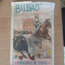 Carteles Toros: CARTEL ORIGINAL CORRIDAS DE TOROS BILBAO 1925 ROBERTO DOMINGO. Lote 202432991