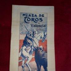 Cartazes Touros: VALENCIA DOMINGO 30 DE ABRIL DE 1916. Lote 202888607