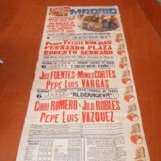 Carteles Toros: CARTEL DE TOROS DE MADRID. MURAL. JUNIO-JULIO 1985. CURRO ROMERO, JULIO ROBLES, PUERTA GRANDE, UNICO. Lote 203322795