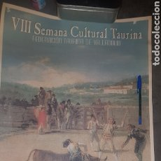 Carteles Toros: CARTEL SEMANA CULTURAL TAURINA 2003 FERIA DE MUESTRAS DE VALLADOLID. Lote 204332976
