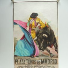 Cartazes Touros: CARTEL DE TOROS PLAZA DE TOROS MADRID GRAN CORRIDA DE NOVILLOS 30 DE MAYO 1985. Lote 204689326